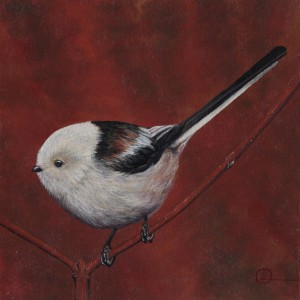Oil painting small bird