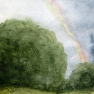 landscape watercolor Rainbow