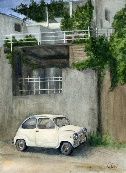 Акварель Будва Watercolor