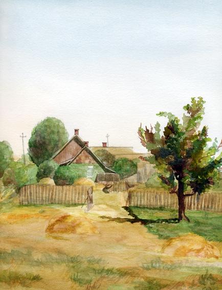 Watercolor Акварель Дом